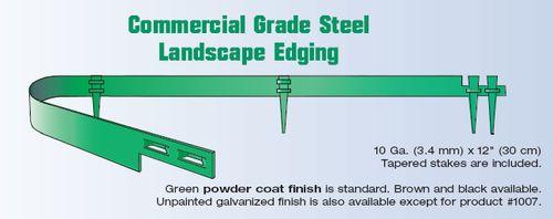 Steel Grade Stakes : Col met commercial grade steel landscape edging falcon